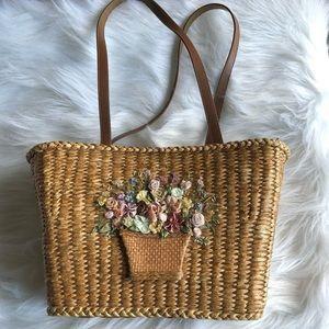 Cottagecore Floral Straw Purse Capelli Straworld